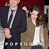 Robert Pattinson and Kristen Stewart arrived together at a Breaking Dawn Part 2 afterparty.