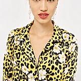 Topshop Animal Floral Print Pajama Shirt