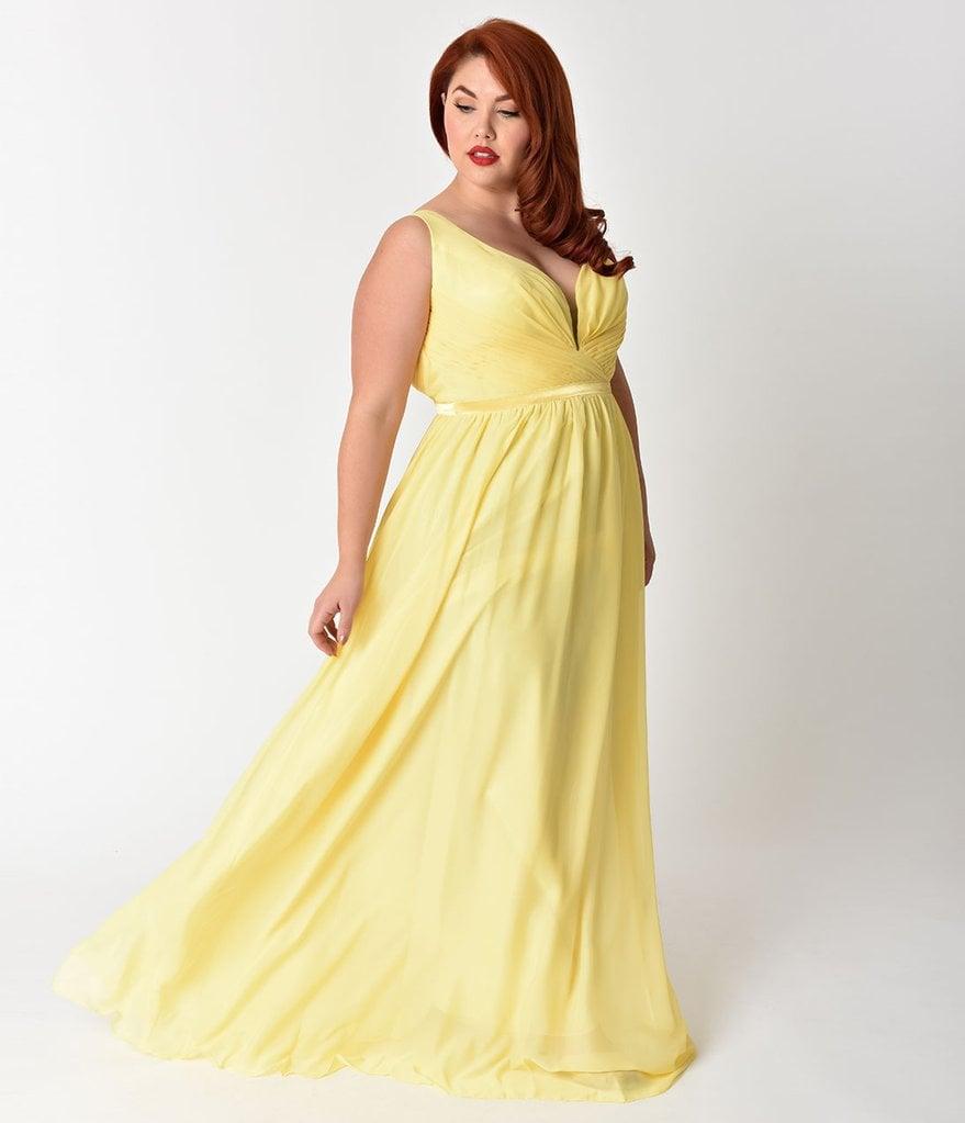 Yellow Chiffon Prom Dresses