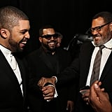 Pictured: Laurence Fishburne, Ice Cube, and O'Shea Jackson Jr.