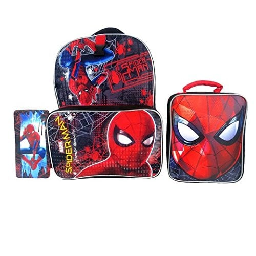 Spiderman Backpack, Lunch Kit and Pencil Case