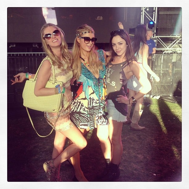 Nicky Hilton hung out with sister Paris and cousin Farrah during the festival. Source: Instagram user nickyhilton