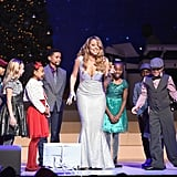 The singer belted out her holiday singles at the Beacon Theater in NYC in 2014.