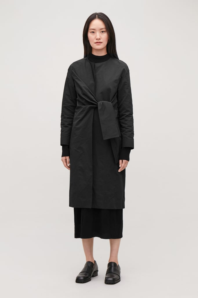 COS Long Blazer With Tie-Front