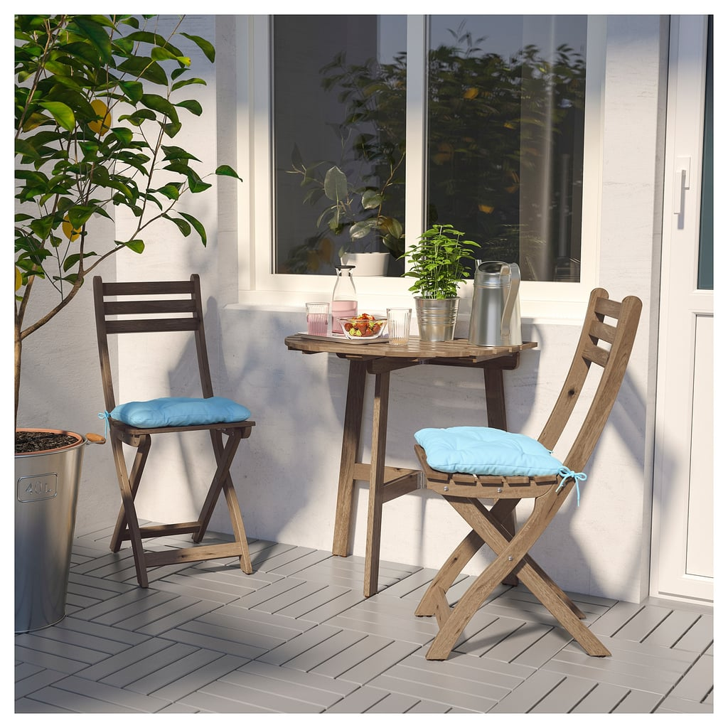 Askholmen Wall Table And Two Folding Chairs Best Ikea Outdoor
