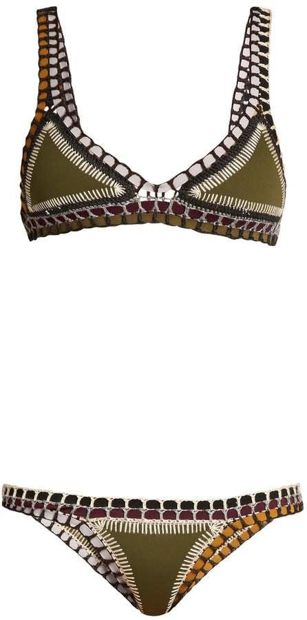 6586f200a1 Kiini Wren Crochet Trimmed Triangle Bikini | Iskra Lawrence Brown ...