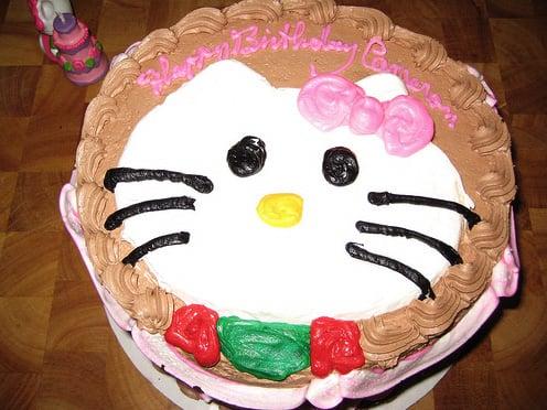 Prime Hello Kitty Seventh Birthday Party Cake Ideas And Inspiration Birthday Cards Printable Benkemecafe Filternl