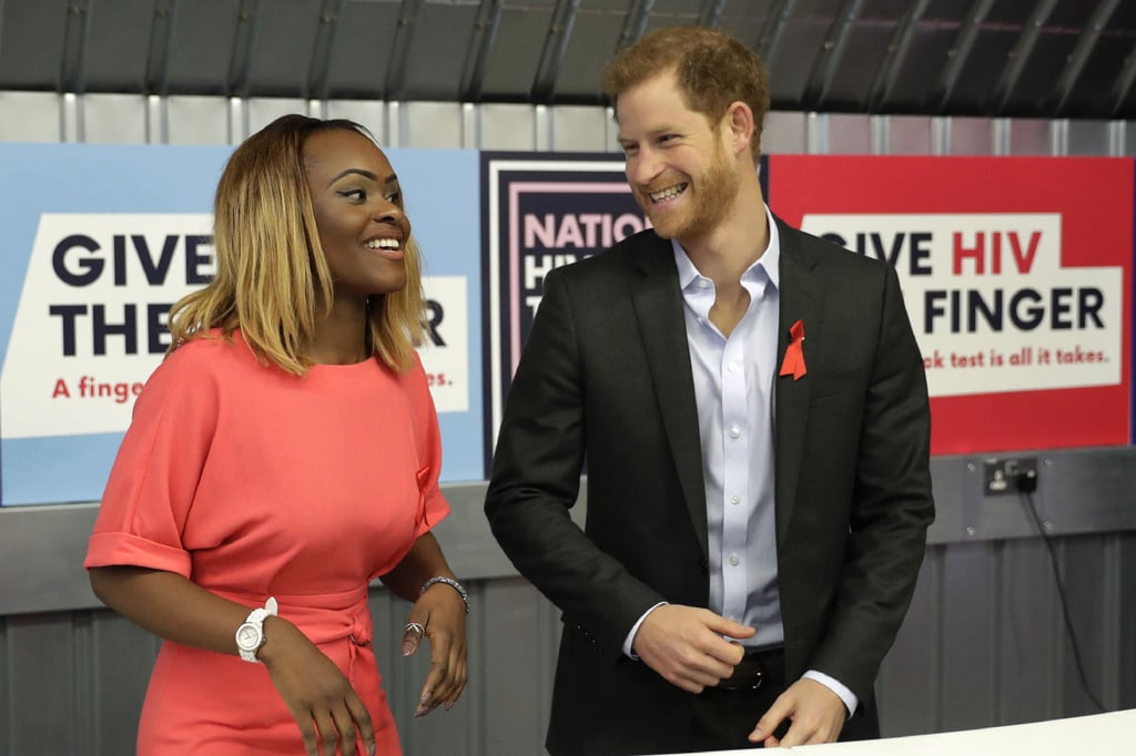 Prince Harry Visiting the Terrence Higgins Trust Nov. 2017