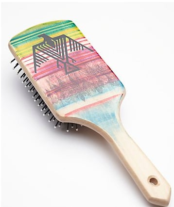 Free People Hand-Painted Wooden Brush