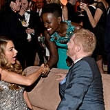 Sofia Vergara and Jesse Tyler Ferguson were super excited to meet Lupita Nyong'o at The Weinstein Company's SAGs after party.