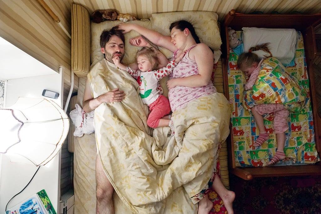 Photographs of Pregnant Women Sleeping