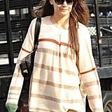 Katie Holmes walked to her show in NYC.