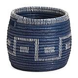 Large Round Dyed Natural Storage Basket
