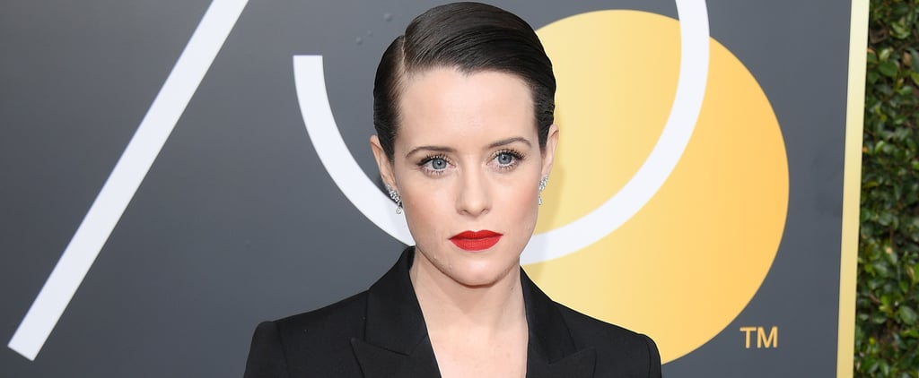 Here For Claire Foy's Boss Lady Golden Globes Look