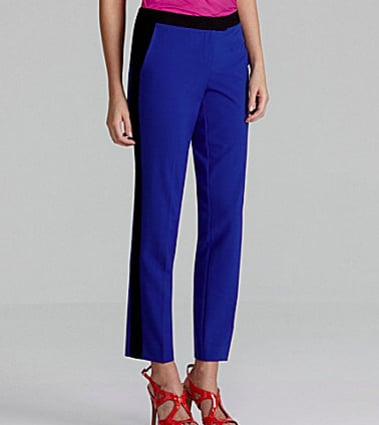 We're all about tuxedo pants right now. That's why these Vince Camuto cobalt tuxedo pants ($99) are at the top of our must-have list. Plus, the price tag is great too.