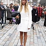 Slip-on sneakers gave her look a tomboy twist. Source: Hannah Freeman