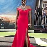 Leslie Jones Looked Stunning in Her Red Christian Siriano Dress