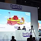 A live stage with people playing games was front and center.