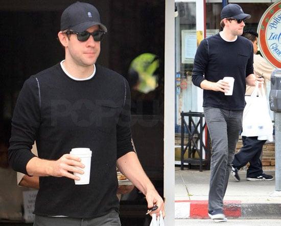 John Krasinski Leaving a Cafe