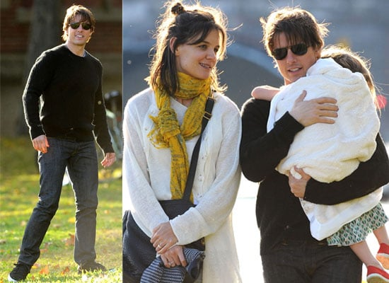 Gallery of Pictures of Tom Cruise and Katie Holmes Out In Cambridge with Suri, Tom Cruise and Katie Holmes Play With Suri