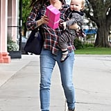 Jennifer Garner Goes Shopping With a Walking Samuel