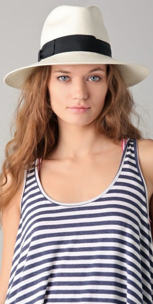 This cool-girl fedora gets a boost of femme via bow ribbon detail. Bop Basics Continental Hat ($98)