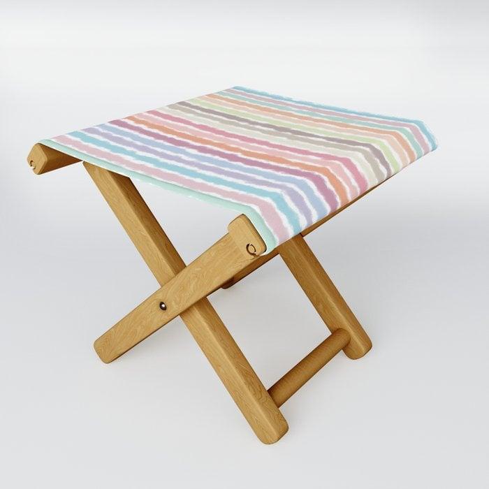 Pastel Stripes Folding Stool by peekaboostudios