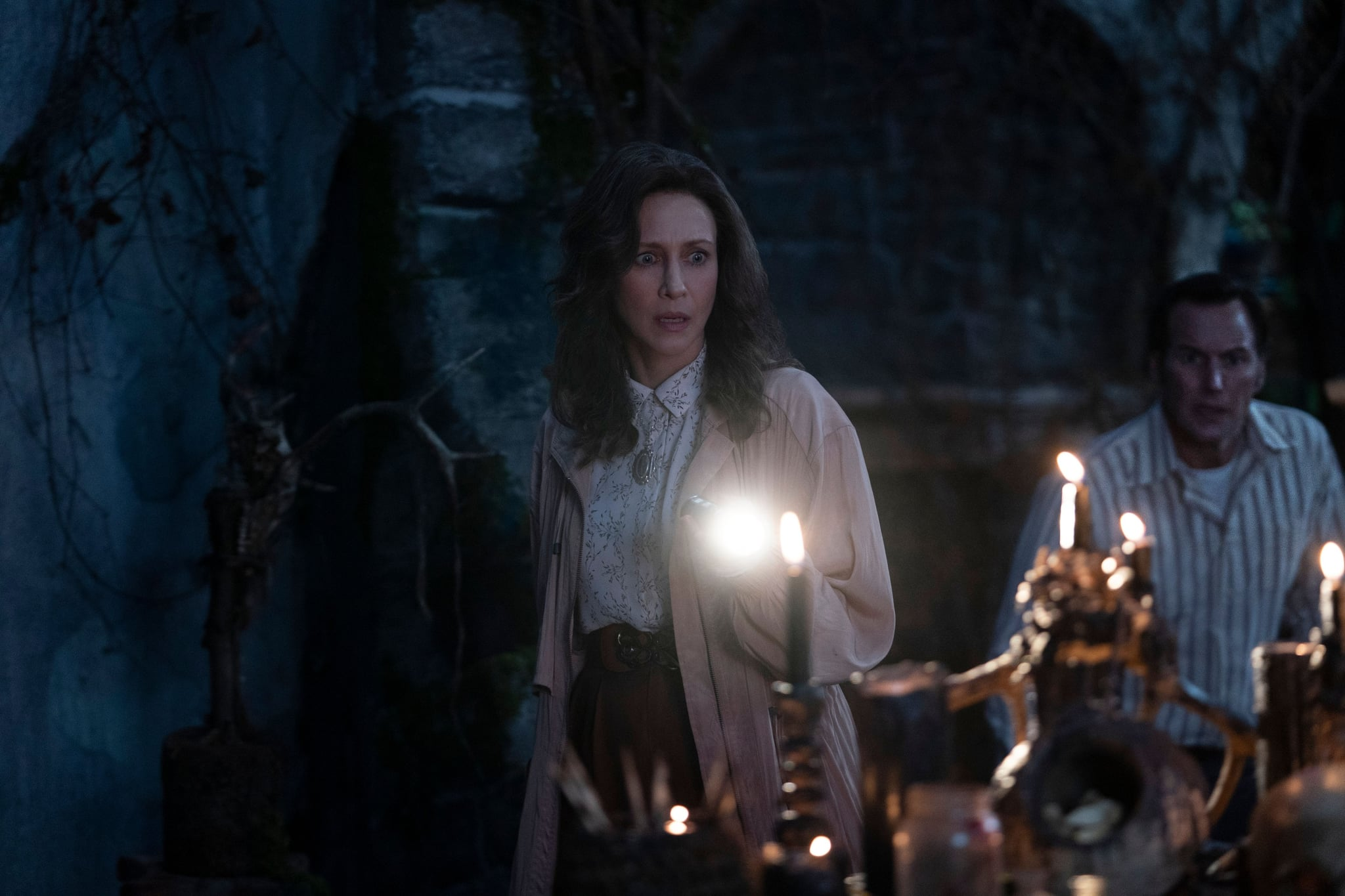 THE CONJURING: THE DEVIL MADE ME DO IT, from left: Vera Farmiga, Patrick Wilson, 2021. ph: Ben Rothstein /  Warner Bros. / Courtesy Everett Collection