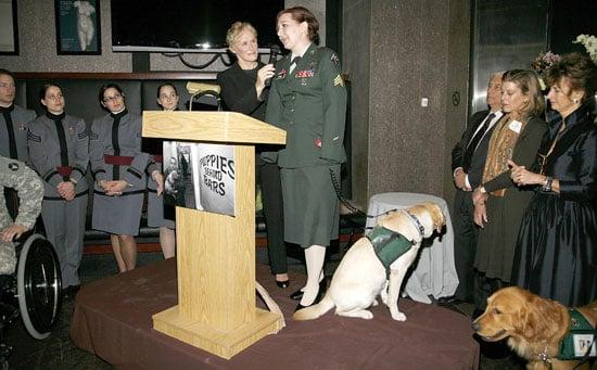 Glenn Close Honors Puppies Behind Bars and Dog Tags