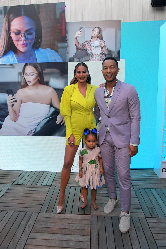 "Chrissy Teigen and John Legend were seeing through rose-colored glasses with children Luna, 3, and Miles, 1, on Thursday. The family of four attended the Hollywood launch of Chrissy's collaboration with sunglasses brand Quay Australia. Per usual, they looked absolutely adorable as they smiled for cameras and enjoyed the event. Luna — being the rising star she is — tried on different pairs of specs and busted a move to the music. But the oh-so-cute Miles also had a moment in the spotlight as Chrissy snapped a picture of the tot posing in front of a ""Quay Australia"" sign.  Chrissy helped develop the new line, which features sunnies ranging from $50 to $60. She also stars in a commercial for the collaboration, alongside Luna, who has a hilarious one-liner in the promo. Keep scrolling to see all the fun photos of the quartet at the launch!"