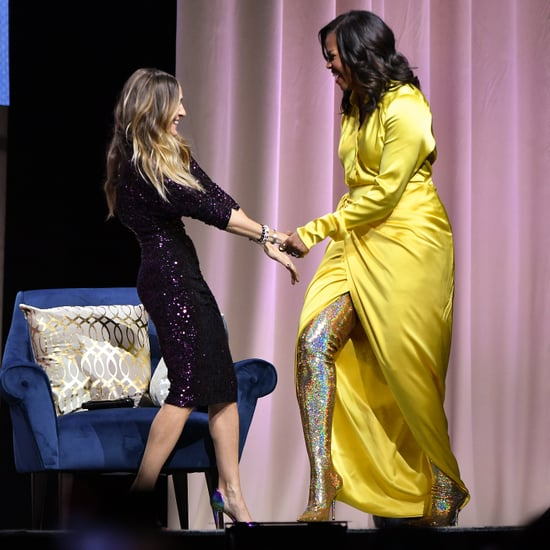Michelle Obama Balenciaga Boots December 2018