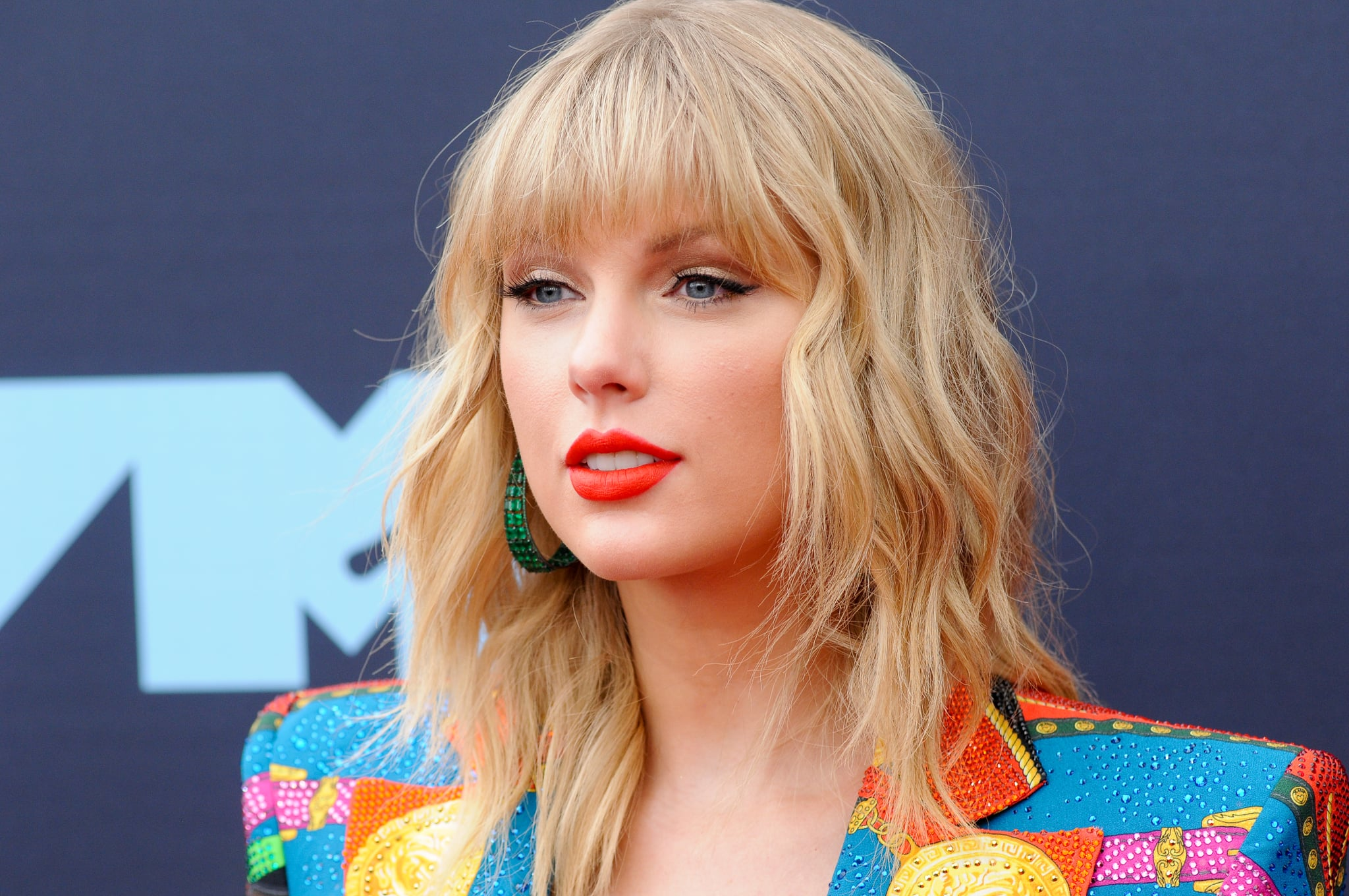 PRUDENTIAL CENTER, NEWARK, NEW JERSEY, UNITED STATES - 2019/08/26: Taylor Swift attends the 2019 MTV Video Music Video Awards held at the Prudential Center in Newark, NJ. (Photo by Efren Landaos/SOPA Images/LightRocket via Getty Images)