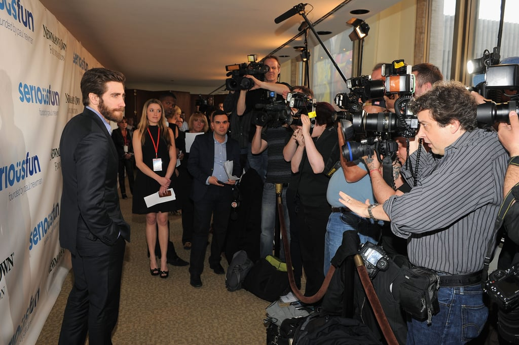 Jake Gyllenhaal posed for pictures at the Lincoln Center in NYC.
