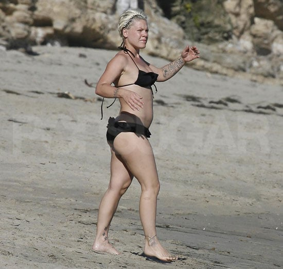 Pictures of Pregnant Pink Wearing a Bikini in LA