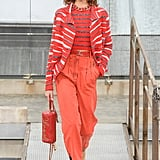 A Chanel Bag and Shoes on the Runway During Paris Fashion Week