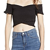Add an off-the-shoulder top ($33, originally $55).