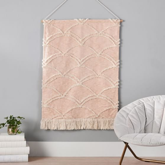 Blush Textured Scallop Wall Hanging