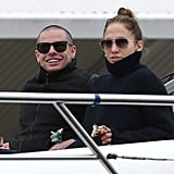 Jennifer Lopez and Casper Smart spent the day on a yacht together.
