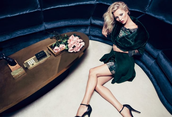 Kate Moss reprised her role as the face of Milan-based Liu ...