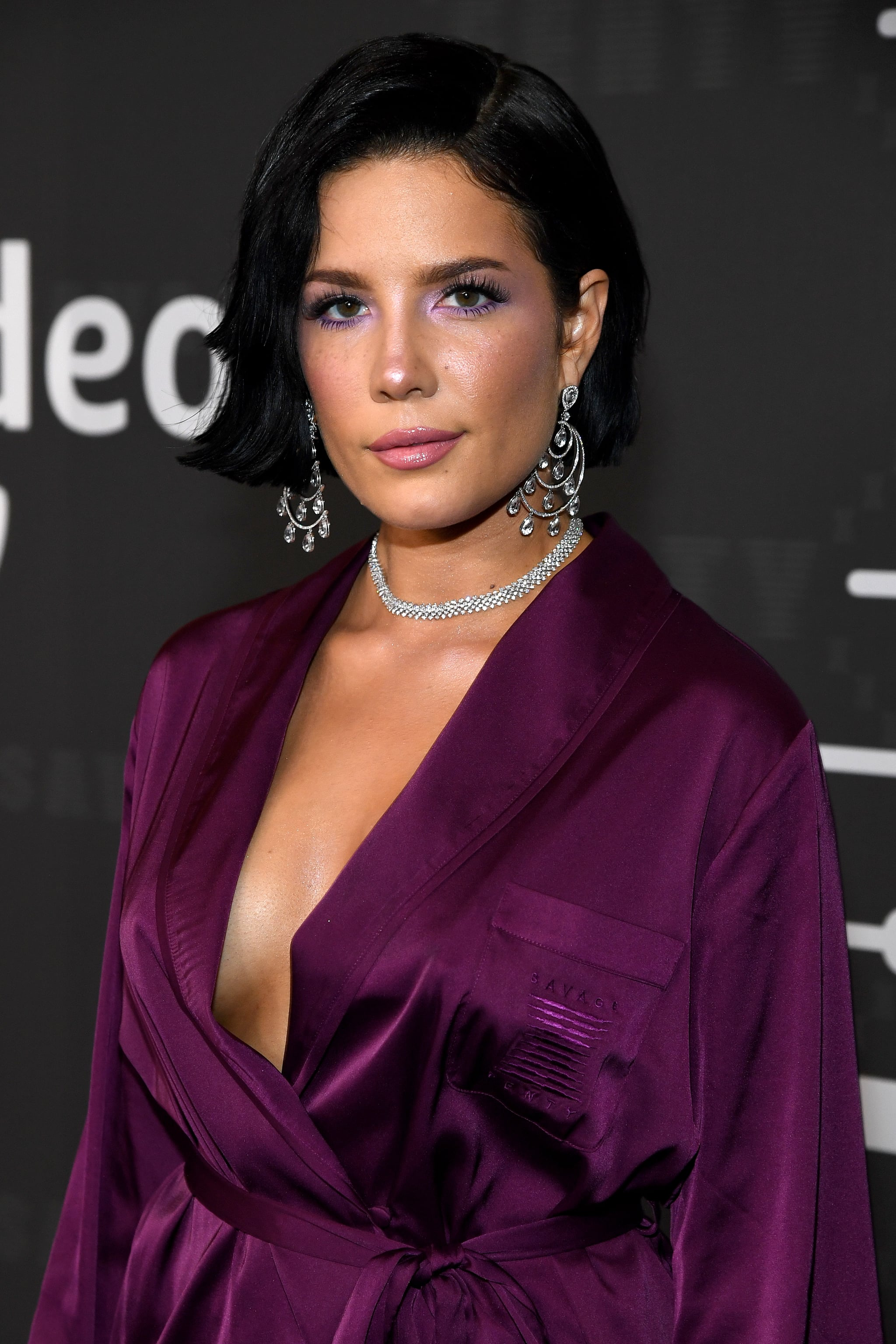 BROOKLYN, NEW YORK - SEPTEMBER 10:  Halsey attends Savage X Fenty Show Presented By Amazon Prime Video - Arrivals at Barclays Centre on September 10, 2019 in Brooklyn, New York. (Photo by Kevin Mazur/Getty Images for Savage X Fenty Show Presented by Amazon Prime Video )