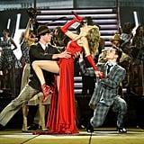 Taylor's Worn Heels on Stage