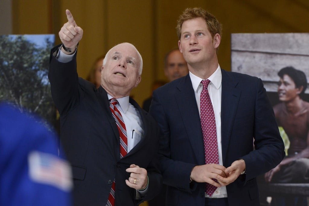 John McCain talked with Prince Harry on Thursday while giving him a tour of Washington DC.