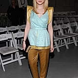 Dakota Fanning showed her support at Rodarte.