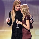 They toasted on stage during Nicole's hosting gig at the G'Day USA Gala in January 2015.