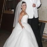 Kelly Ripa and Nick Lachey as Kim Kardashian and Kris Humphries