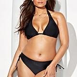 Swimsuits For All Beach Babe Black Side-Tie Bikini