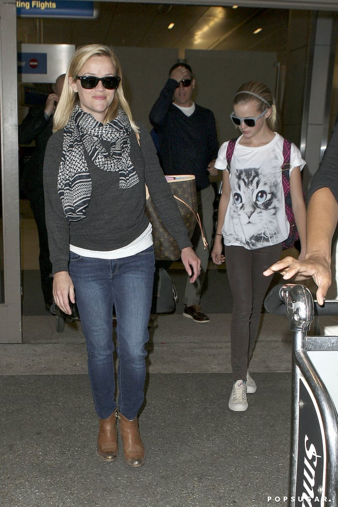 Reese Witherspoon and Ava Phillippe landed in LA on Monday.