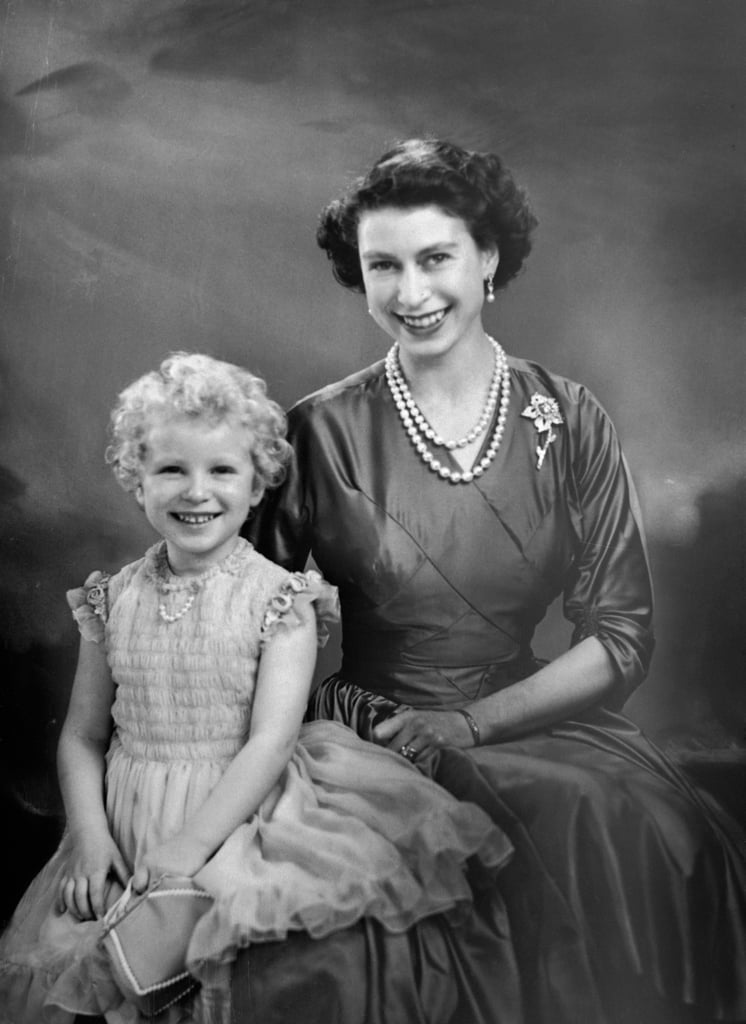 Queen Elizabeth II With Her Only Daughter, Anne, Princess Royal, in 1954