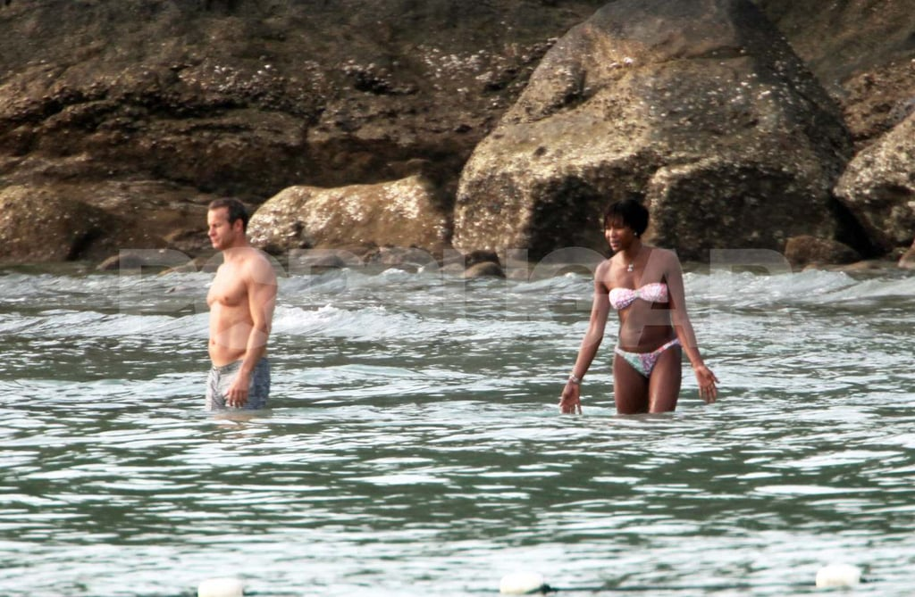 Naomi Campbell Swims in a New Bikini While Vlad Suffers From a Jellyfish Sting