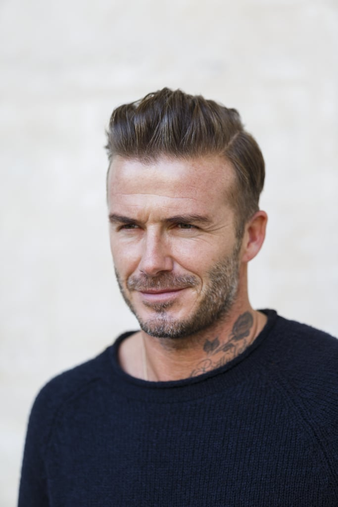 david beckham at paris fashion week 2016 popsugar celebrity australia. Black Bedroom Furniture Sets. Home Design Ideas